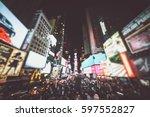 Time Square Blurred Concept