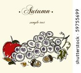 autumn background | Shutterstock .eps vector #59755699