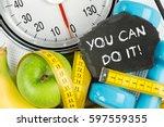 fitness diet motivation... | Shutterstock . vector #597559355