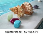 stones and shell in the SPA - stock photo