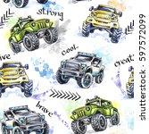 watercolor seamless pattern... | Shutterstock . vector #597572099