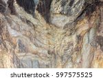 abstract rock formation... | Shutterstock . vector #597575525