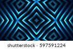 decorative bright blue lights | Shutterstock . vector #597591224