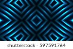 decorative bright blue lights | Shutterstock . vector #597591764