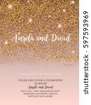 invitation for wedding ... | Shutterstock .eps vector #597593969