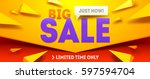 big sale horizontal banner.... | Shutterstock .eps vector #597594704