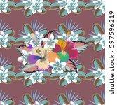seamless background. beautiful... | Shutterstock . vector #597596219