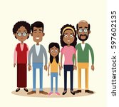 family togetherness happy image | Shutterstock .eps vector #597602135