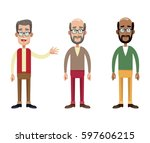 group male grandfather image | Shutterstock .eps vector #597606215