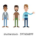 group father male family | Shutterstock .eps vector #597606899