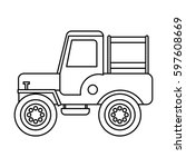 jeep colombian car vehicle... | Shutterstock .eps vector #597608669