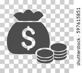 money bag icon. vector...   Shutterstock .eps vector #597615851