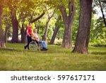 happy family time  enjoying... | Shutterstock . vector #597617171