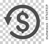 chargeback icon. vector... | Shutterstock .eps vector #597619319