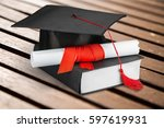graduation. | Shutterstock . vector #597619931