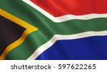 south africa flag background... | Shutterstock . vector #597622265