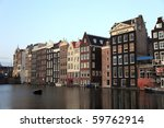 old historic houses amsterdam...   Shutterstock . vector #59762914