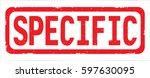 specific text  on red rectangle ... | Shutterstock . vector #597630095