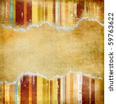 abstract vintage background with torn borders - stock photo