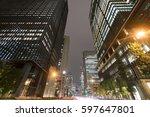 tokyo city landscape otemachi... | Shutterstock . vector #597647801