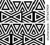 vector seamless pattern.... | Shutterstock .eps vector #597647909