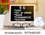 Small photo of BUSINESS FINANCE OFFICE AND 5S (SORT, SET IN ORDER, SHINE, STANDARDIZE AND SUSTAIN CONCEPT