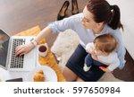 inventive contemporary mom...   Shutterstock . vector #597650984