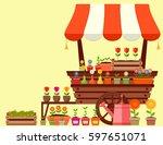Flower Market Garden Stand Wit...