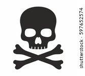skull icon | Shutterstock .eps vector #597652574