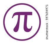 pi icon vector. large purple... | Shutterstock .eps vector #597654971