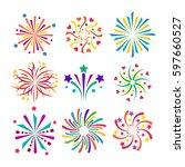 firework vector icon isolated... | Shutterstock .eps vector #597660527