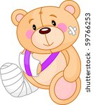 very cute sick teddy bear. get... | Shutterstock .eps vector #59766253