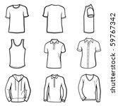 man clothes set   Shutterstock .eps vector #59767342