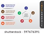 business infograhics template.... | Shutterstock .eps vector #597676391