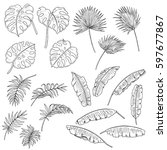 vector hand drawn set of some... | Shutterstock .eps vector #597677867