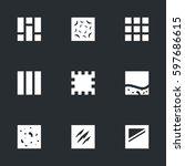 vector set of flooring icons. | Shutterstock .eps vector #597686615