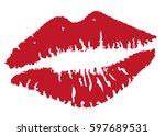 vector illustration of lipstick ... | Shutterstock .eps vector #597689531