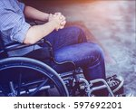 Paralyzed Man Praying On  His...