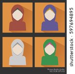 flat design simple vector... | Shutterstock .eps vector #597694895