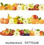 three fruit design borders... | Shutterstock .eps vector #59770168