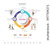 business infographic business... | Shutterstock .eps vector #597709271
