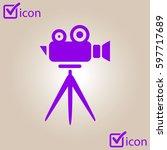 cinema camera icon. flat design ...