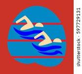 swimming. sport  icon  logo ... | Shutterstock .eps vector #597729131