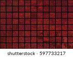 bright abstract mosaic red... | Shutterstock . vector #597733217