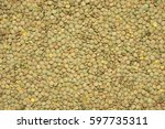 Heap Of Green Lentil Texture A...