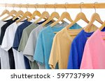 set of colorful shirt clothing... | Shutterstock . vector #597737999