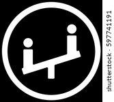 children playground sign black. ... | Shutterstock .eps vector #597741191