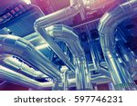 equipment  cables and piping as ... | Shutterstock . vector #597746231