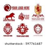 set of lions logotypes | Shutterstock .eps vector #597761687