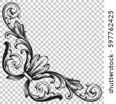 ornament in baroque style | Shutterstock .eps vector #597762425